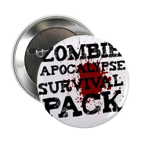 """Zombie Apocalypse Survival Pack 2.25"""" Button"""