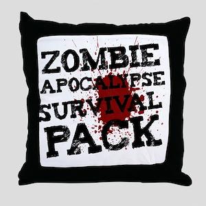 Zombie Apocalypse Survival Pack Throw Pillow