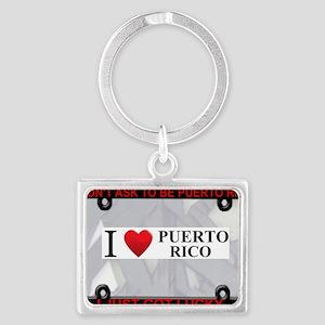 I Heart Puerto Rico Landscape Keychain