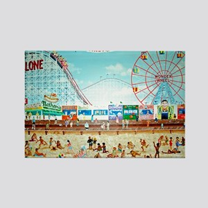 Coney Island Painting 1 Rectangle Magnet