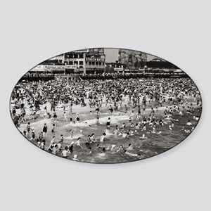 The Past Coney Island 1 Sticker (Oval)