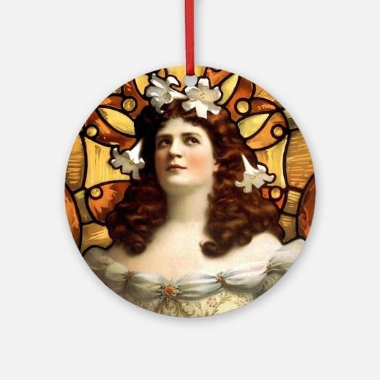 Eugenie Blair - US Printing - 1899 Round Ornament