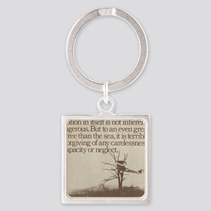 Plane in a Tree Square Keychain