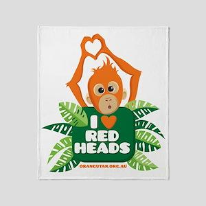 I Love (heart) Red ... Throw Blanket