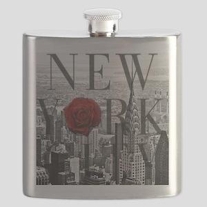 NY Skyline Rose Flask