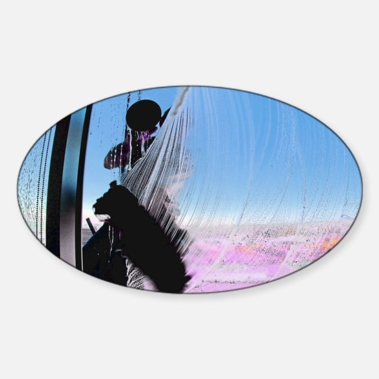window washer 001 Sticker (Oval)