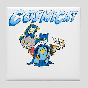 CosmiCat Trinity Logo Tile Coaster