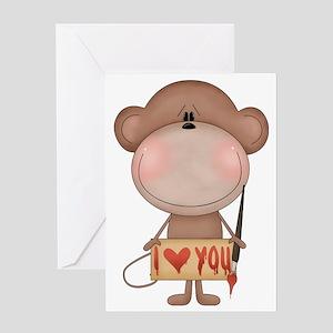I love you- monkey Greeting Card