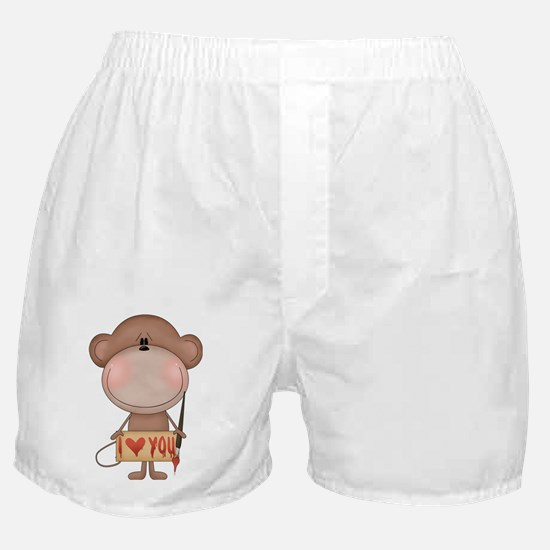 I love you- monkey Boxer Shorts