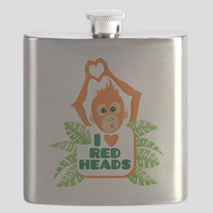 I Love (heart) Red H... Flask