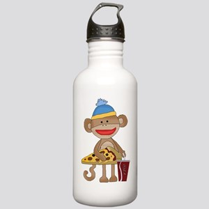 Sock Monkey snack time Stainless Water Bottle 1.0L