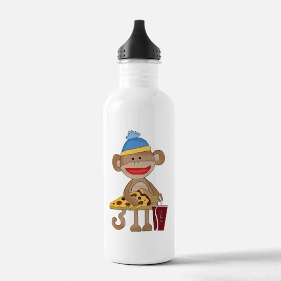 Sock Monkey snack time Water Bottle