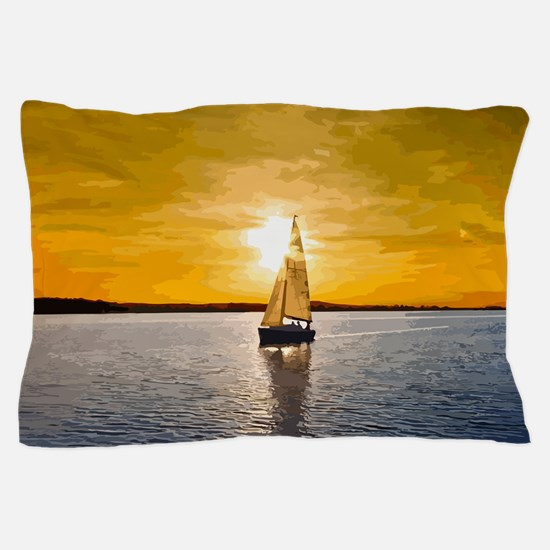 Sailing into the sunset Pillow Case