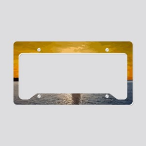 Sailing into the sunset License Plate Holder