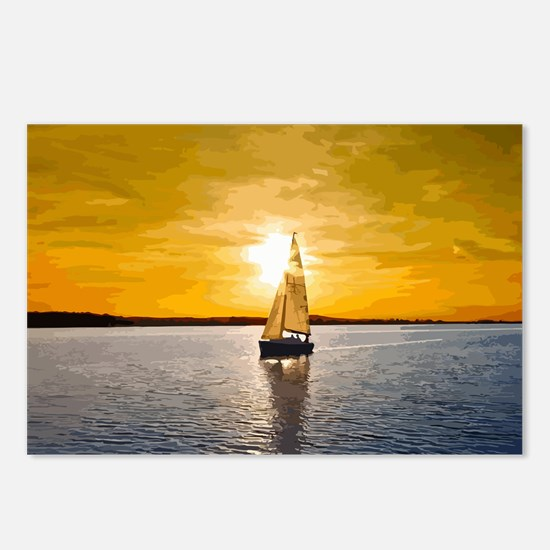 Sailing into the sunset Postcards (Package of 8)