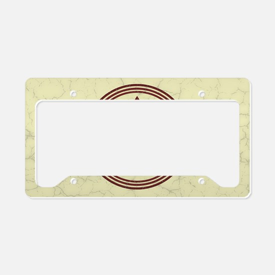 fleur-antique-red-OV License Plate Holder