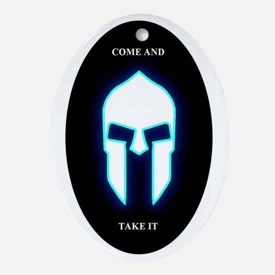 Come and Take It Oval Ornament