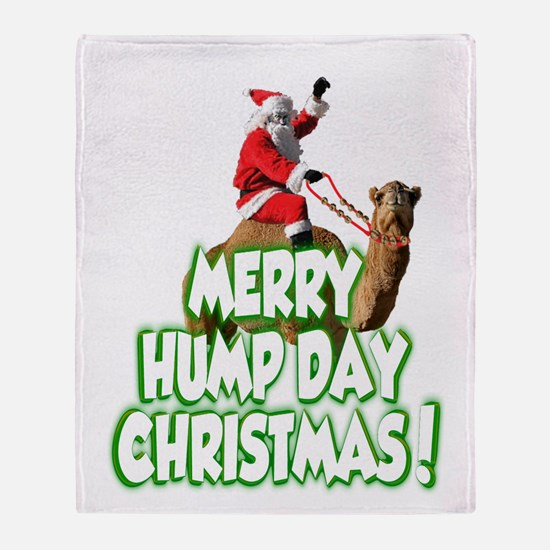 Funny Merry Hump Day Christmas Throw Blanket