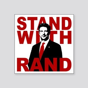 """Stand With Rand Square Sticker 3"""" x 3"""""""