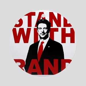 Stand With Rand Round Ornament