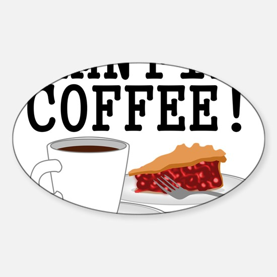 Twin Peaks Damn Fine Coffee Sticker (Oval)