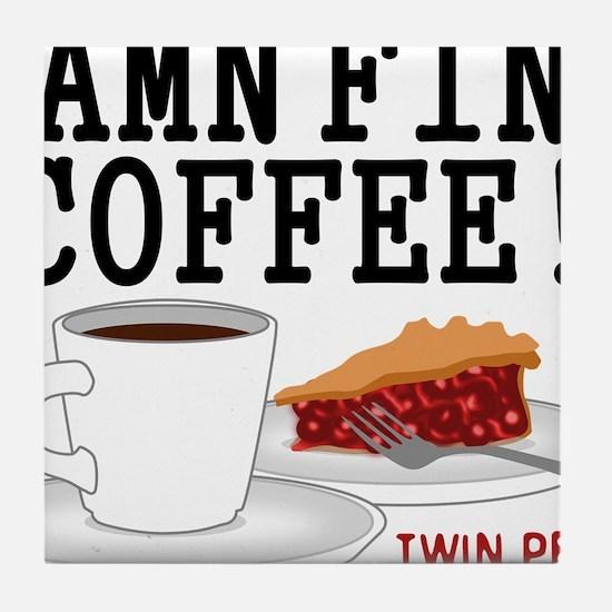Twin Peaks Damn Fine Coffee Tile Coaster