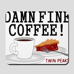 Twin Peaks Damn Fine Coffee Mousepad