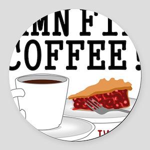Twin Peaks Damn Fine Coffee Round Car Magnet