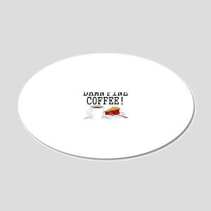 Twin Peaks Damn Fine Coffee 20x12 Oval Wall Decal