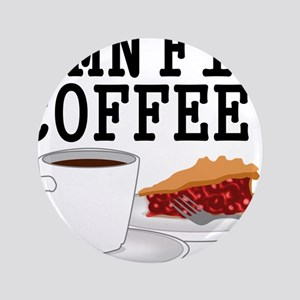 "Twin Peaks Damn Fine Coffee 3.5"" Button"