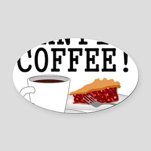 Twin Peaks Damn Fine Coffee Oval Car Magnet