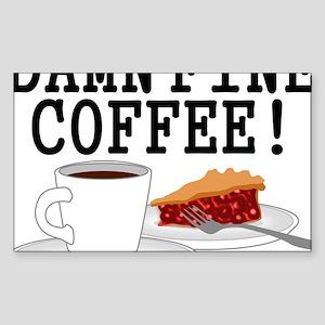 Twin Peaks Damn Fine Coffee Sticker (Rectangle)