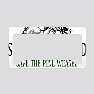 Twin Peaks Pine Weasel License Plate Holder
