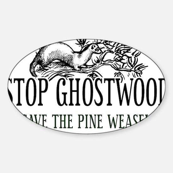 Twin Peaks Pine Weasel Sticker (Oval)