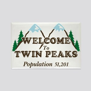 Welcome To Twin Peaks Rectangle Magnet