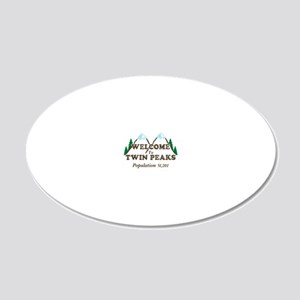 Welcome To Twin Peaks 20x12 Oval Wall Decal