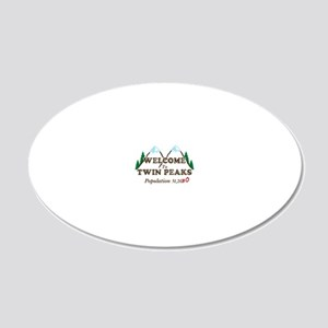 Welcome To Twin Peaks Popula 20x12 Oval Wall Decal