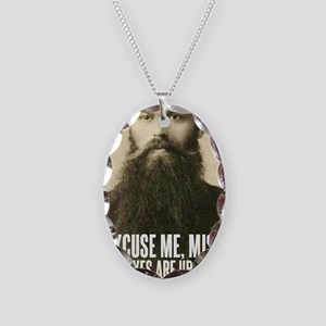 Excuse me, Miss Necklace Oval Charm