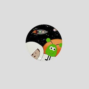 Monkeys In Space Aliens Floating Mini Button