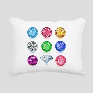 Precious Gems Rectangular Canvas Pillow