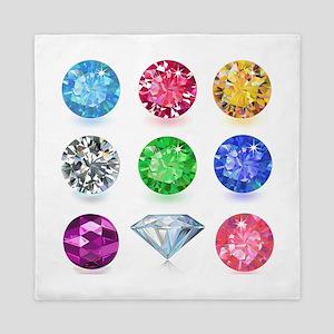 Precious Gems Queen Duvet