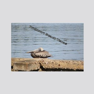 The Pelican at Rockport Beach Tex Rectangle Magnet