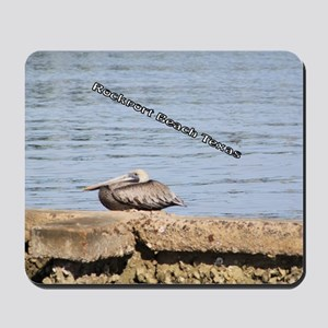 The Pelican at Rockport Beach Texas Mousepad