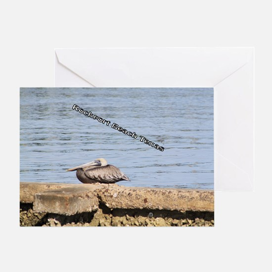 The Pelican at Rockport Beach Texas Greeting Card
