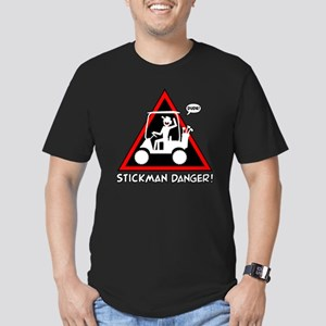 GOLF CART DUDE danger  Men's Fitted T-Shirt (dark)