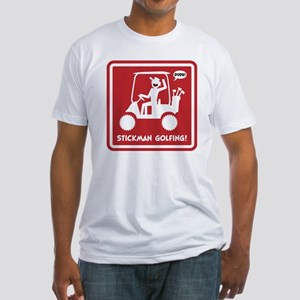 GOLF CART DUDE red sign Fitted T-Shirt