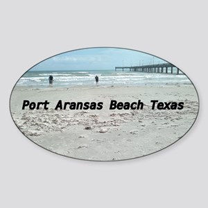 PORT ARANSAS BEACH TEXAS Sticker (Oval)