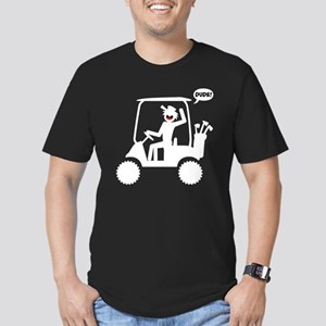 GOLF CART DUDE white i Men's Fitted T-Shirt (dark)