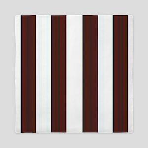 Dark brown Stripes Queen Duvet