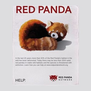 Red Panda Network - Help: Poster Throw Blanket